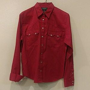 Womens Lauren by Ralph Lauren Long Sleeve Shirt